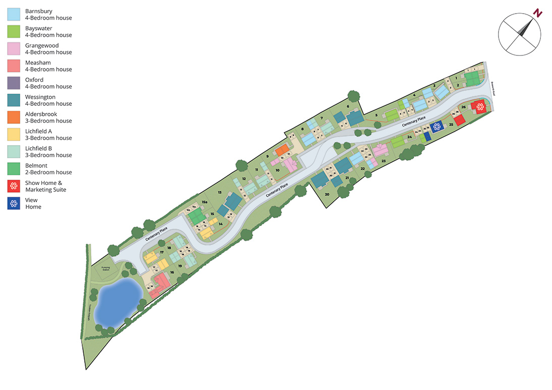 Chamberlain Place site plan