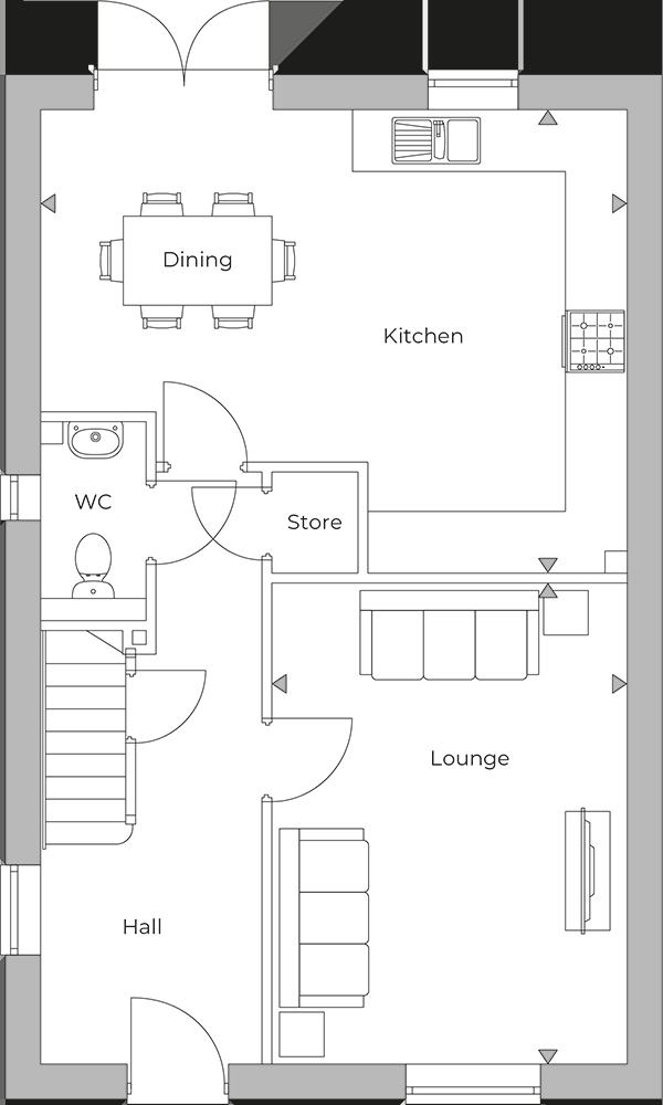 Bradgate ground floor plan