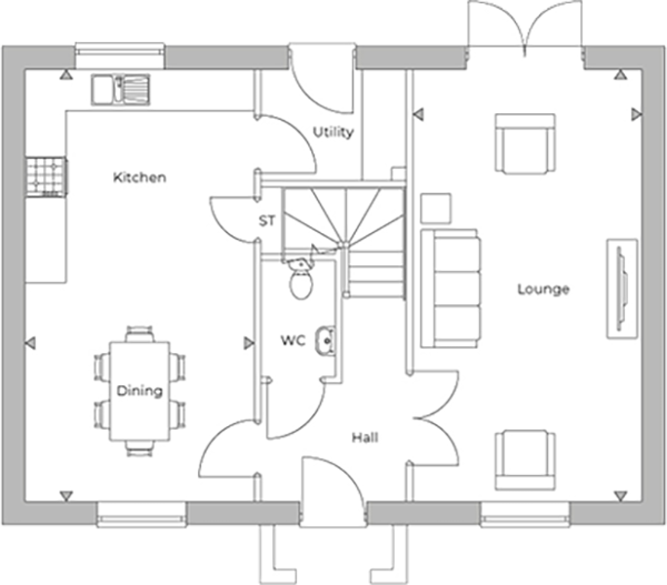 Cadeby ground floor plan