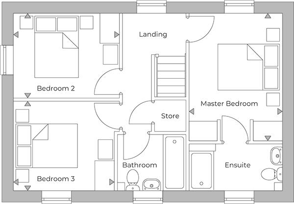 Carsington first floor plan