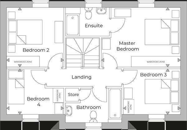 Wymeswold First Floor plan